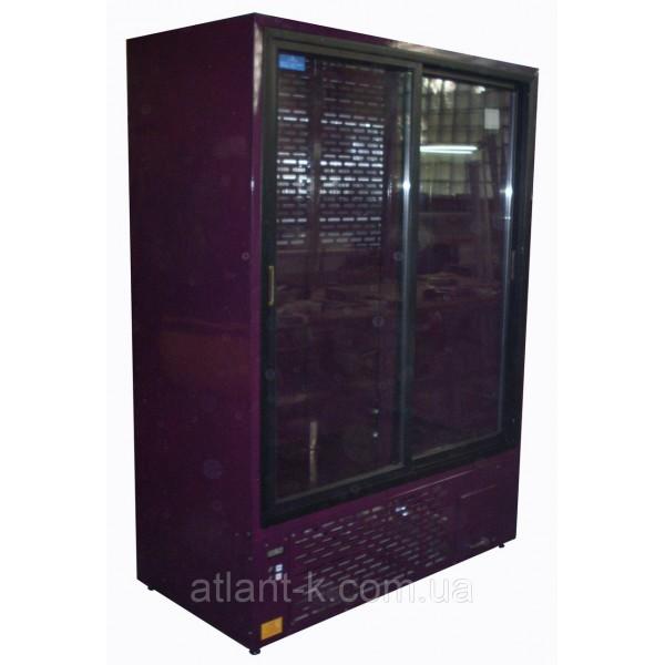 Шкаф холодильный ШХС-1.0, 1000л, (0..+8), с раздвижными стеклянными дверьми