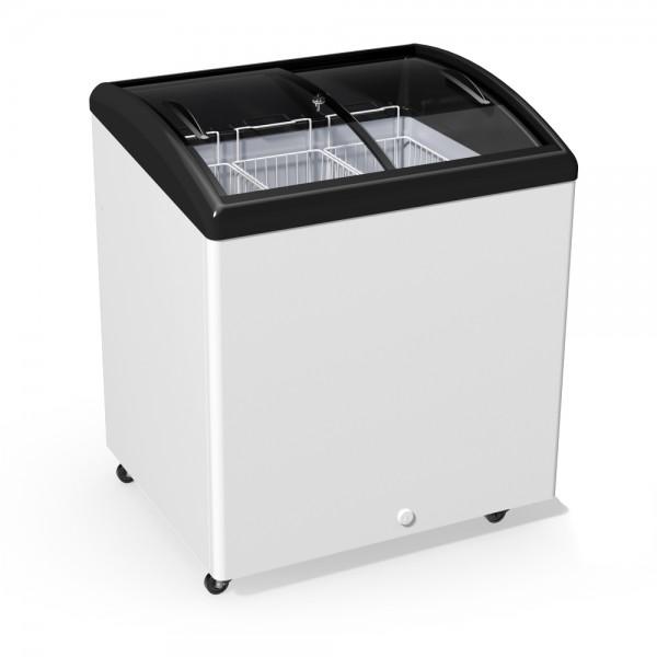 Морозильный ларь JUKA  M 200 S с гнутым стеклом, 247 л